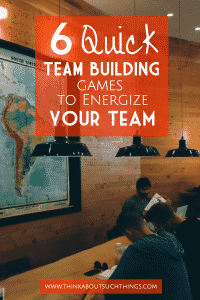 Are you in need of some easy and quick team building games? These 6 game will jump start your next meeting or group time!