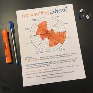 Goal Setting Wheel