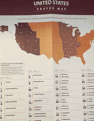 Prayer Map - prayer for revival in america
