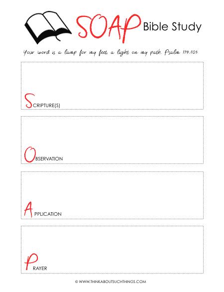 Free SOAP Bible study PDF Printable