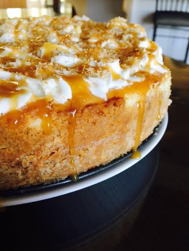 Caramel Coconut Cheesecake