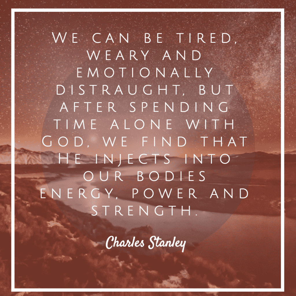 Feeding your faith Charles Stanley Quote