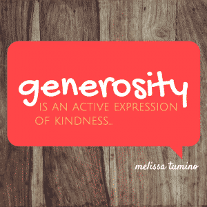 what does the bible say about being generous?