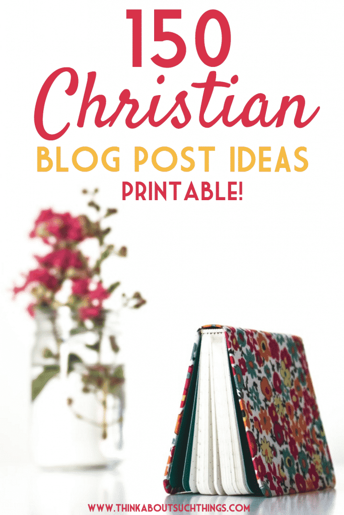 Having a hard time getting good post ideas? Download for free 150 Christian Blog Post Ideas to get your creative juices flowing and take your blog to the..