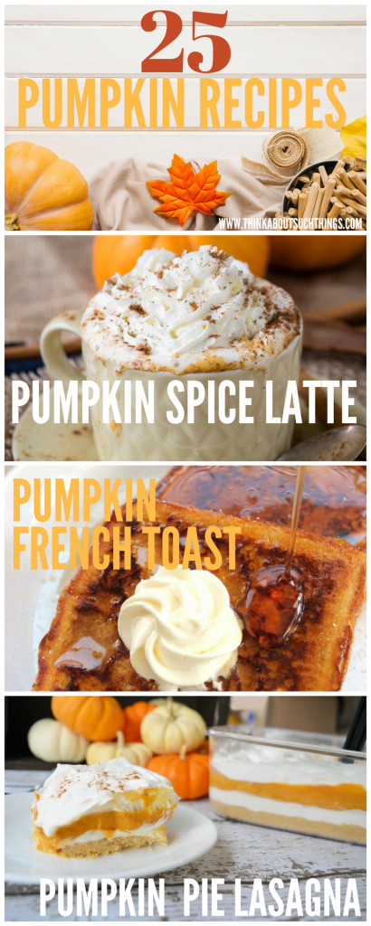 25 Delicious pumpkin recipes to get you ready for fall. Discover pumpkin bread, pumpkin cookies and more!