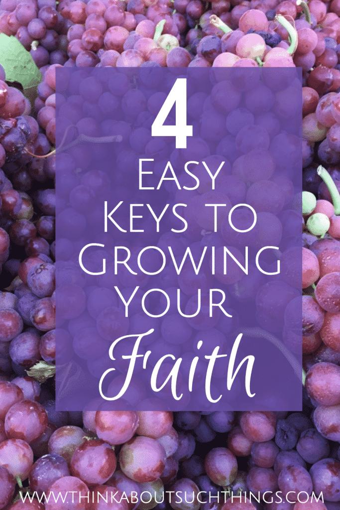 4 Easy Keys to Growing Your Faith