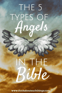 Have you ever wondered what the Bible says about angels? If you study you will see that there are 5 types of angels! How cool! #faith #Jesus #bible #angels #Christian #Scripture
