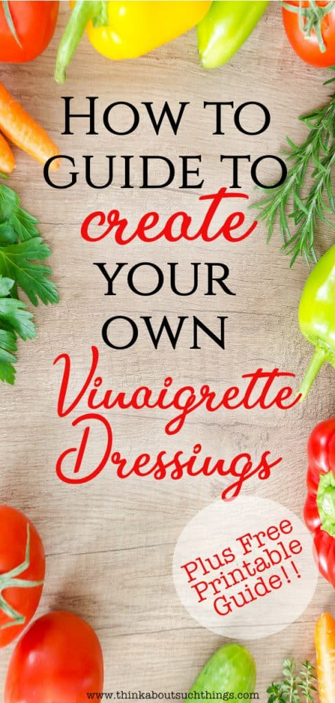Vinaigrette dressing recipes