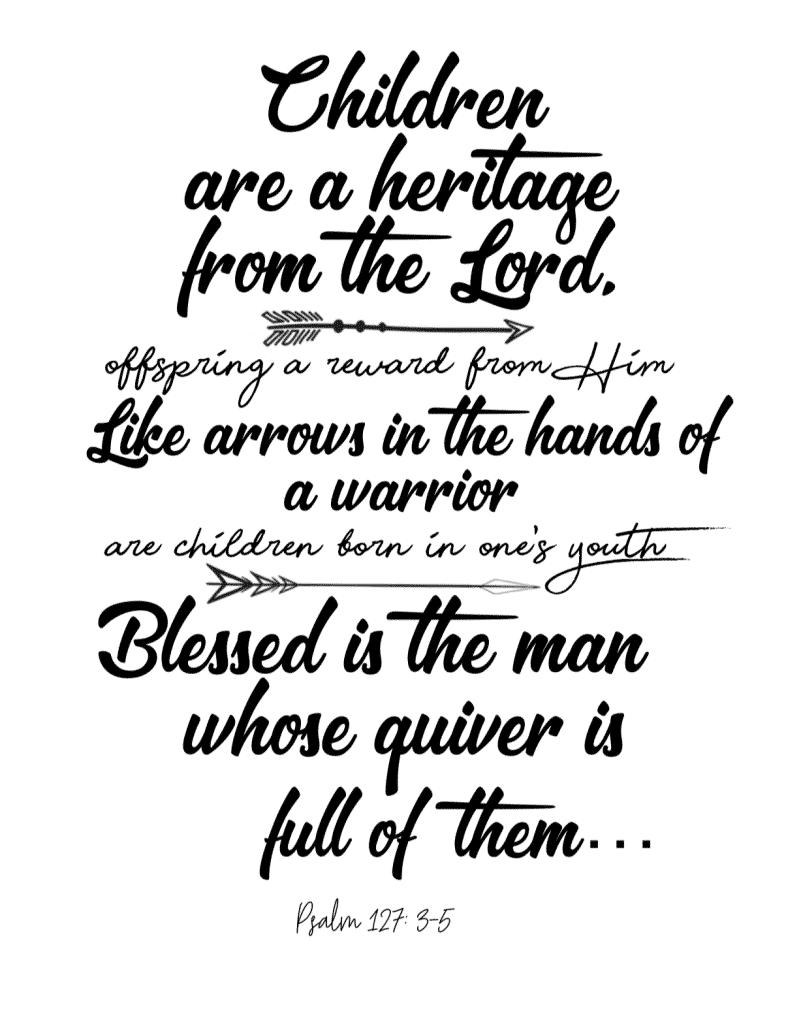 Psalm 127 Printable