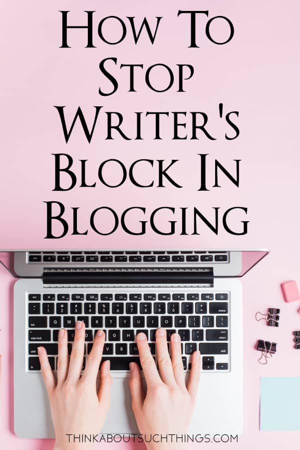 Learn how to STOP writer's block with this easy tool!  #blogging #Blog #content #writing