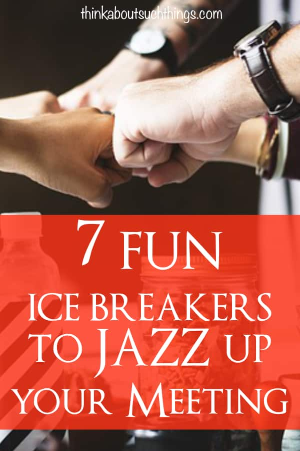 Time to change up your next meeting, session, class, ministry event! Easy ice breakers are a great way to connect people and create a energized atmosphere. Try them out! #teambuilding #leadership #churchministry #icebreakers #meeting #business