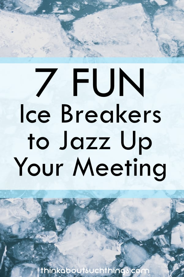 Ice breakers are great way to connect people. Try them out in your next meeting! #teambuilding #leadership #churchministry #icebreakers #meeting #business