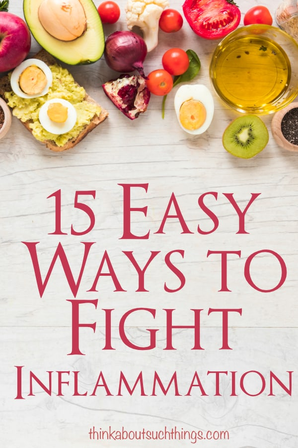 Looking for ways to fight inflammation? It's not as hard as you think. Check out these 15 easy ways to kick inflammation in the face! #health #inflammation #naturalhealth