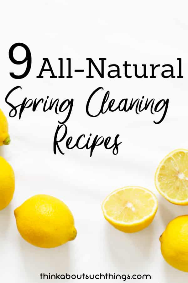 Natural spring cleaning recipes. Live healthy!