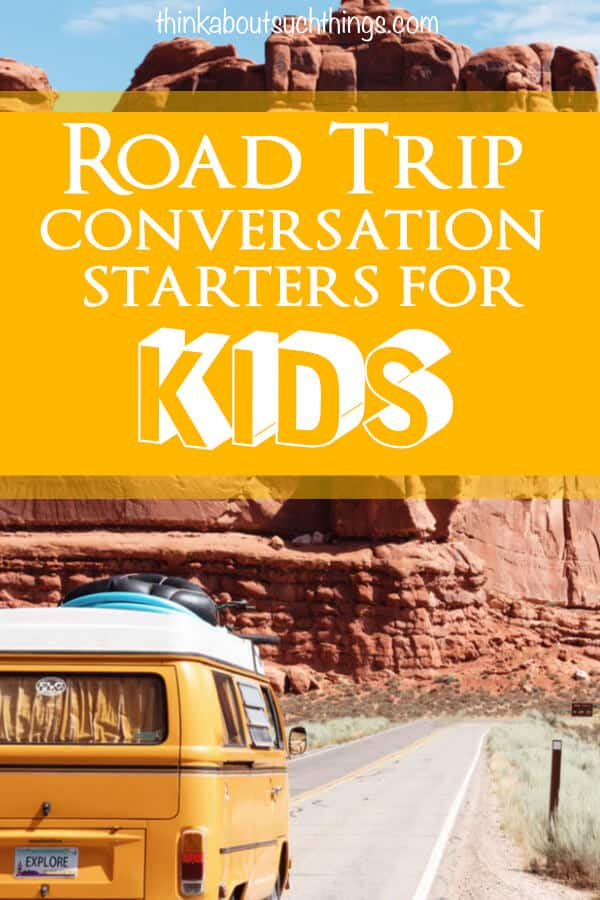 Road Trip conversation starter for kids