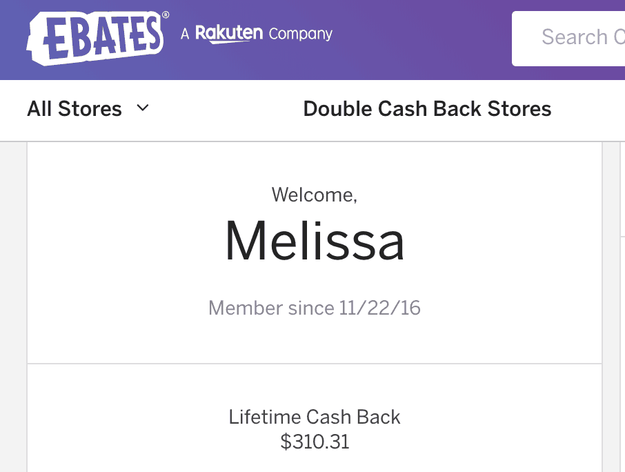 Check out the money i saved with ebates!