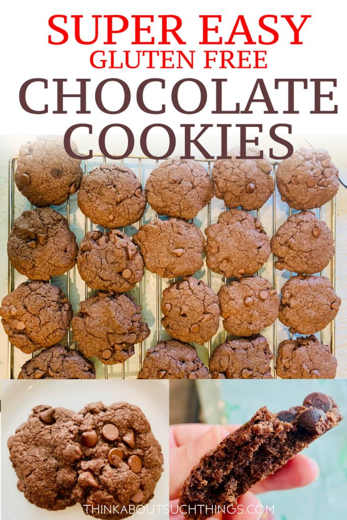 Gluten Free Cake Mix Cookies. These are GF chocolate cookies made with devils food cake mix.