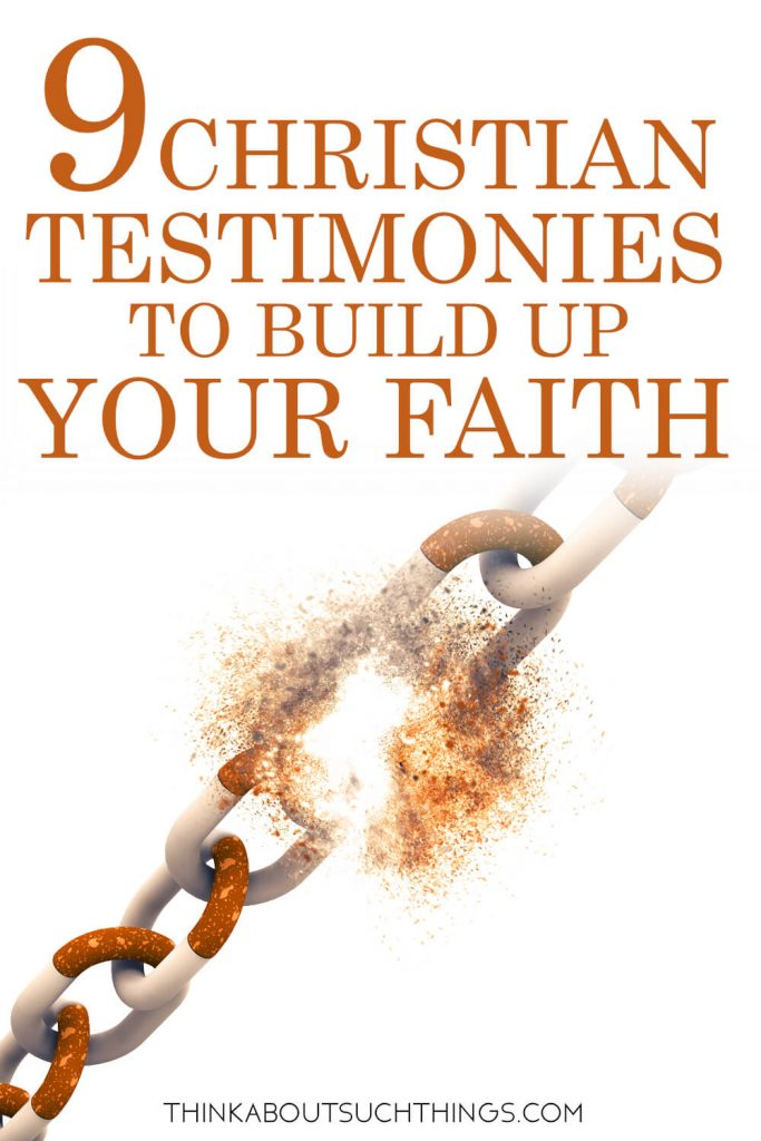 Christian testimonies pin of stories of breakthrough and salvation