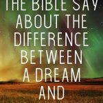 Biblical - Dreams and Visions