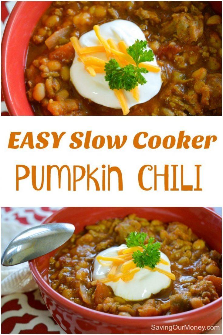 Slow Cooker Pumpkin Chili Recipe