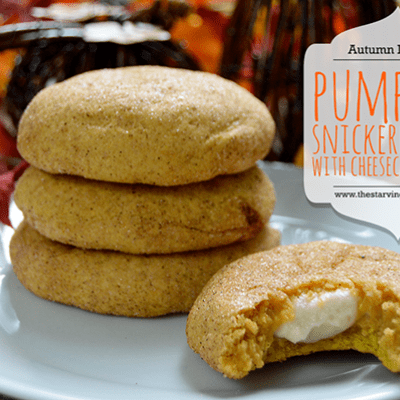 Pumpkin Snicker Doodles with Cheesecake Filling
