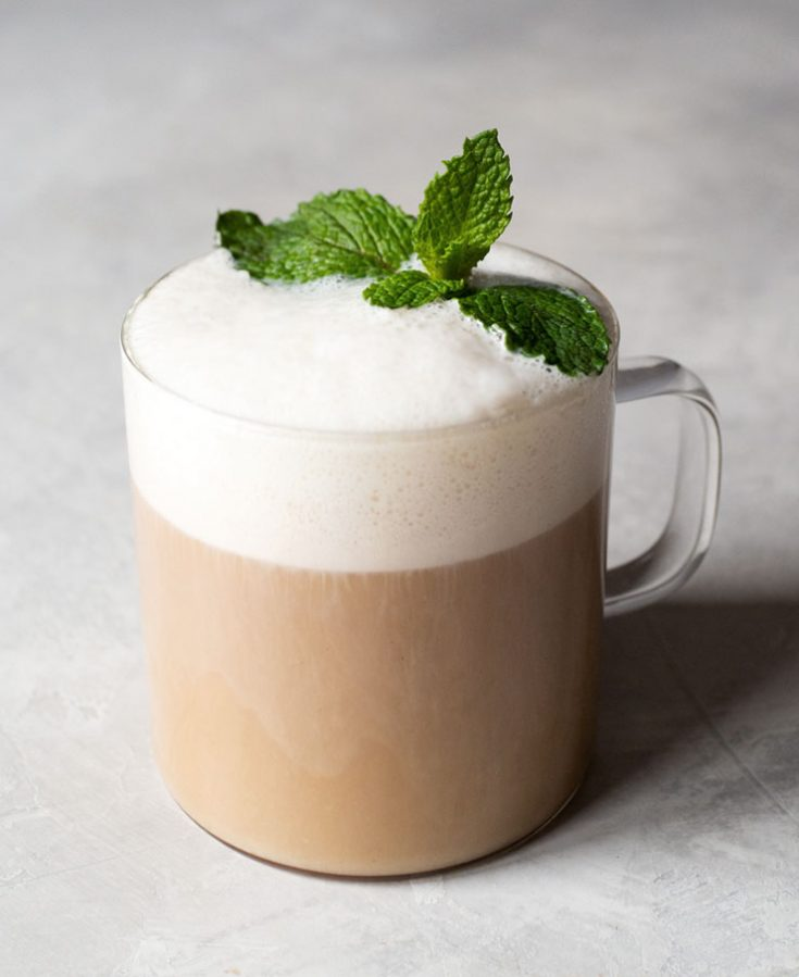 Chocolate Mint Tea Latte