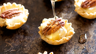 Pecan and Brie Phyllo Cups