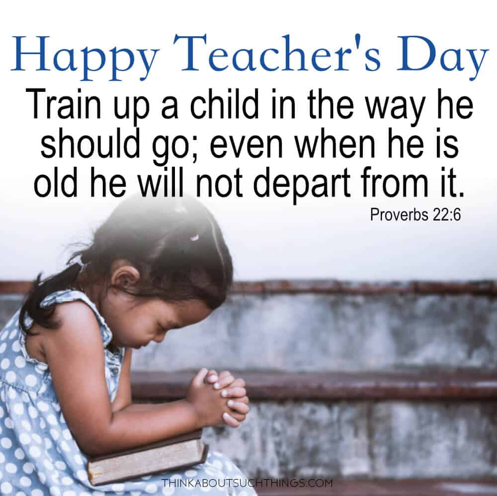 Happy Teacher's Day - Bible Blessing