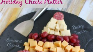 Holiday Christmas Tree Cheese Platter