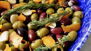 Orange Rosemary Roasted Olives