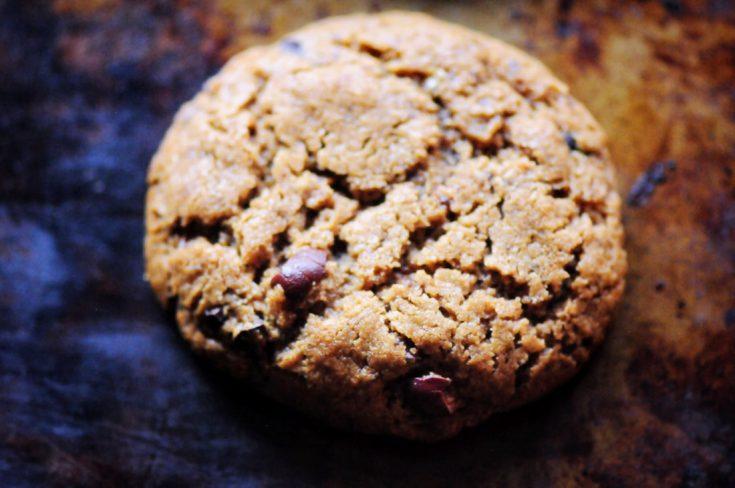 Peanut Butter Cacao Nib Coconut Flour Cookies