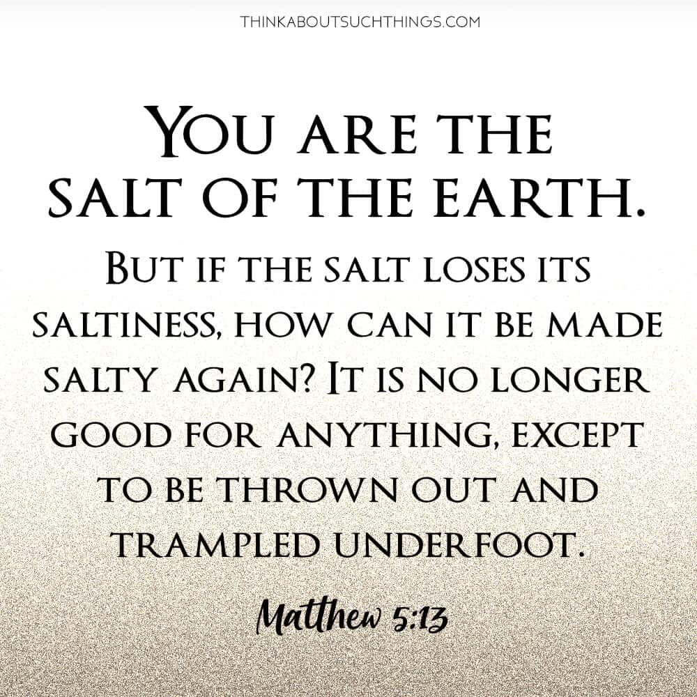 Salt of the World Bible Verse in Matthew 5:13