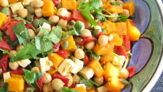 Roast Pumpkin Chickpea Feta Salad