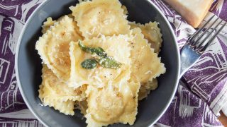 Pumpkin ravioli (tortelli di zucca)