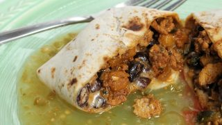 Turkey, Pumpkin and Black Bean Burritos
