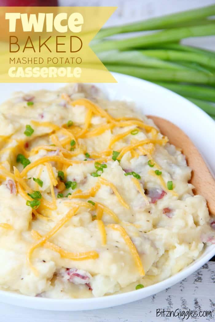 Twice Baked Mashed Potato
