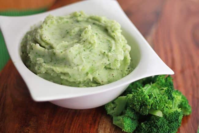 Parmesan Broccoli Mashed Potatoes