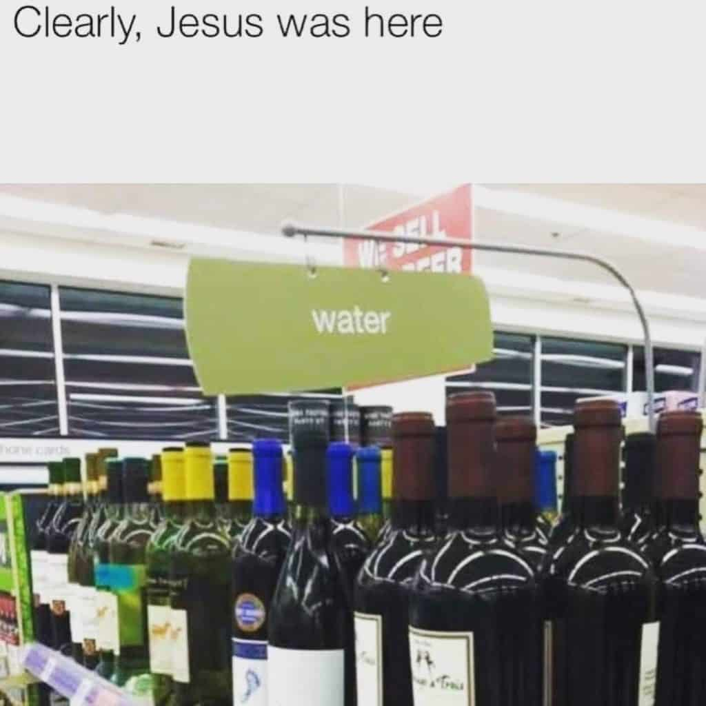 water to wine meme