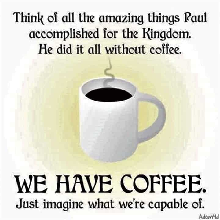 Coffee and Jesus meme
