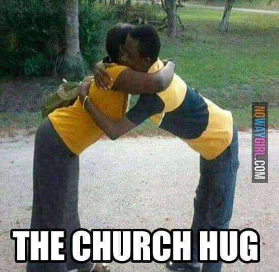church hug meme