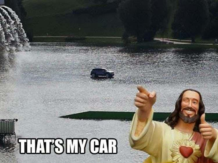 Jesus walk on water meme