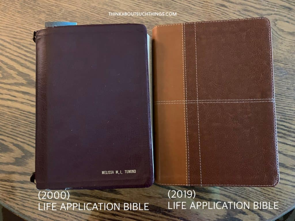 Comparison between two Life Application Bibles NIV - Review
