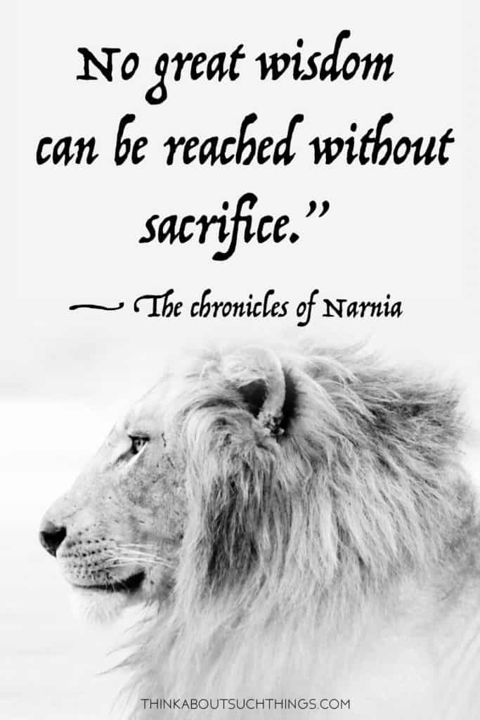 C.S Lewis The Chronicles of Narnia sayings and quotes