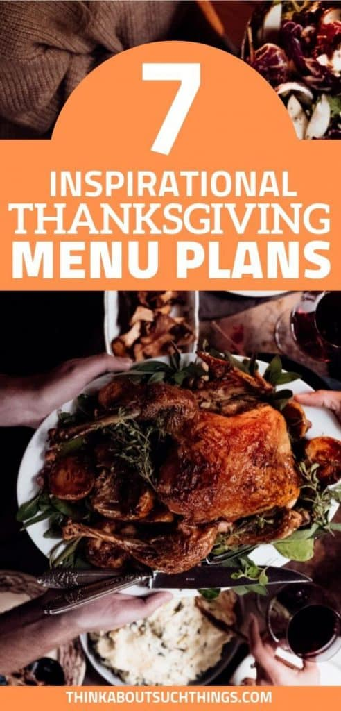 Thanksgiving menu plans