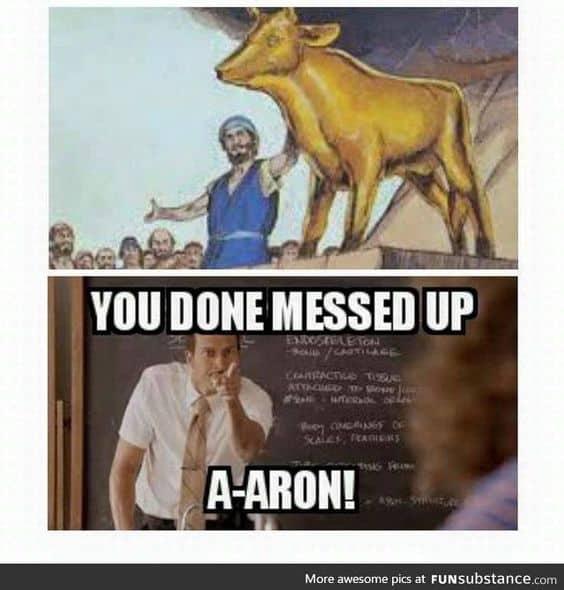 Bible Aaron meme