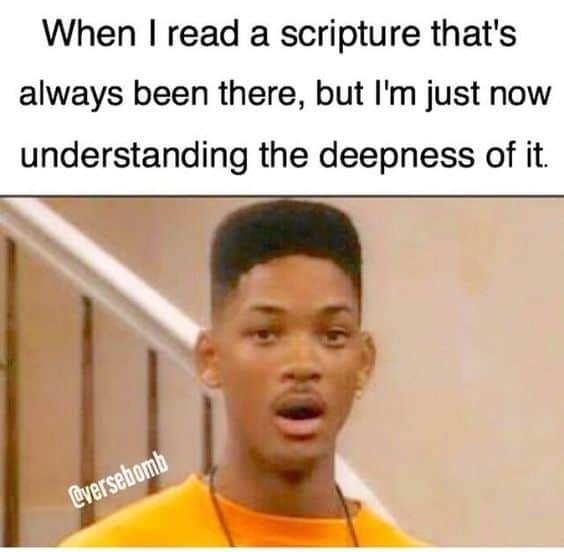Bible study meme