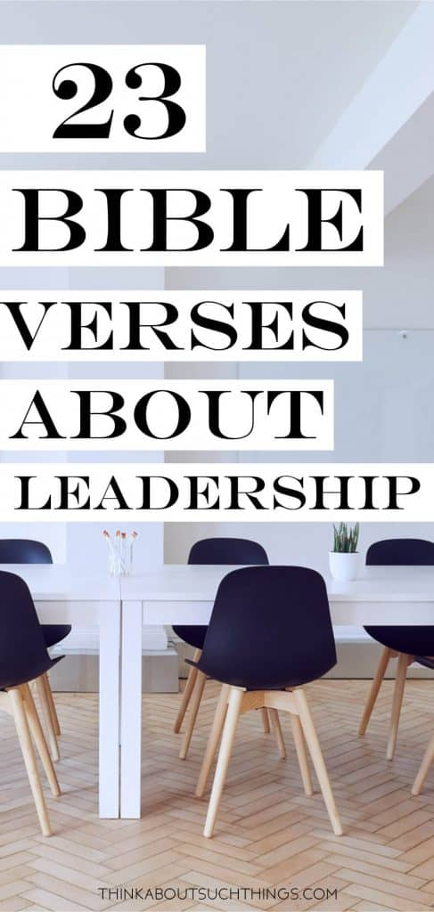 bible verses on leadership
