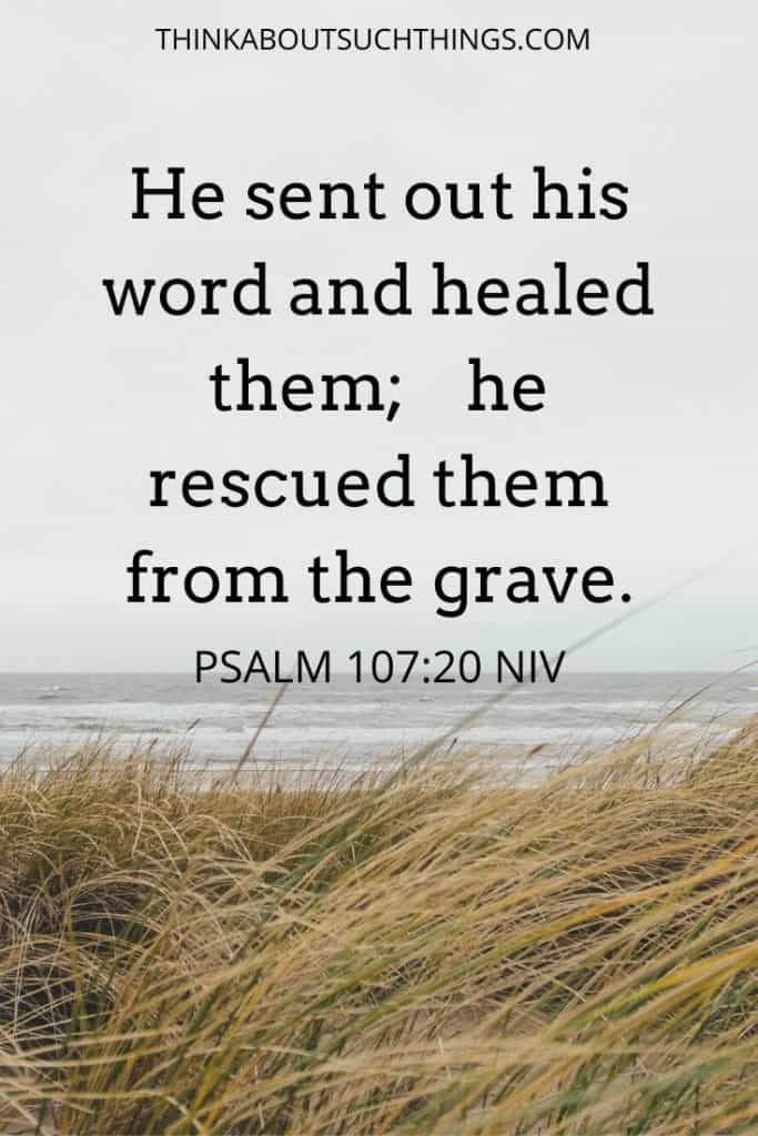 bible verses about healing sickness