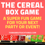 The cereal box game