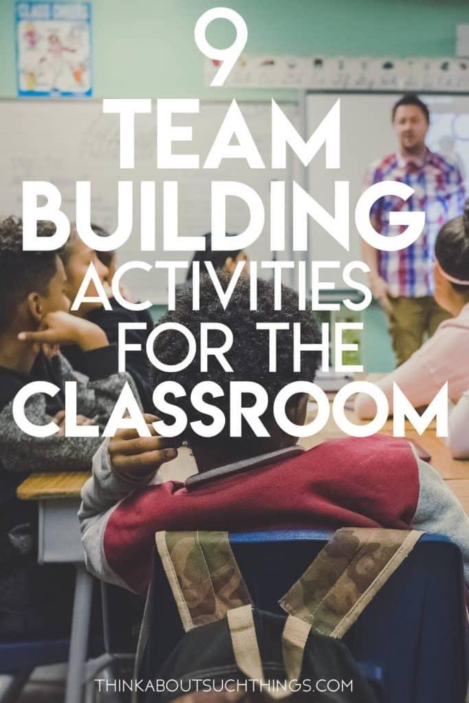 Team building activities for teachers in the classroom.